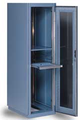 Rack cabinet enclosure for Apple Xserve mount servers
