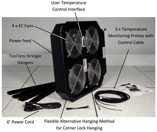PowerAire Quad-M - 3-Sensor Quad-Fan Assist Application