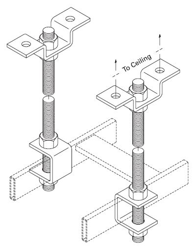 Threaded Ceiling Support Kit