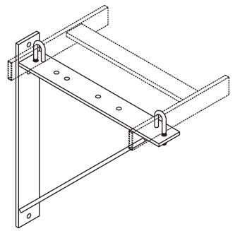 Triangular Support Bracket, Aluminum