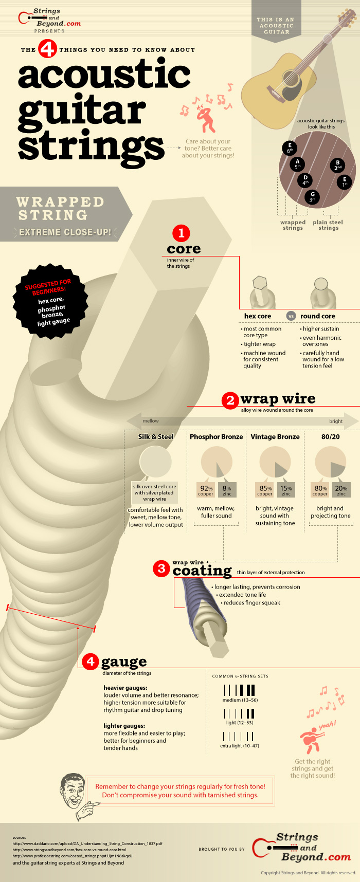 Acoustic Guitar Strings Infographic Return From Diagram Of A Nylon String