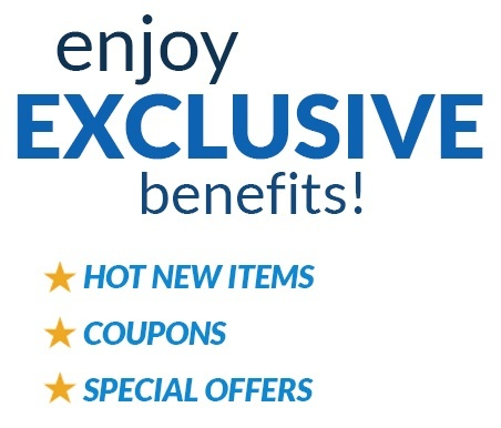 Enjoy Exclusive benefits! Hot New Items, Coupons and Specials