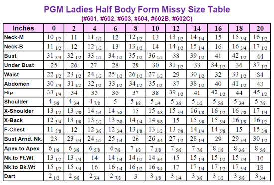 Pgm Ladies Body Form With Hip