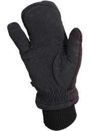 Heritage Black Arctic Winter Gloves Inside