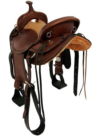 Front View, Dakota Draft Saddle 214