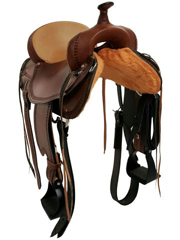 Back View, Dakota Draft Saddle 214