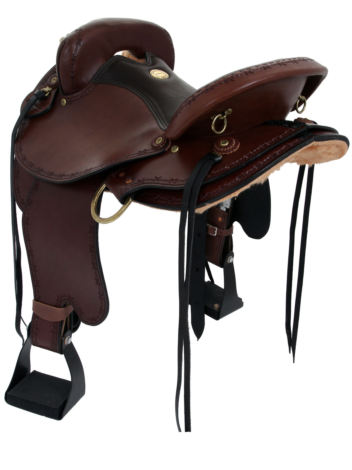 Horse saddle chair - Front View Dakota 313 Side View