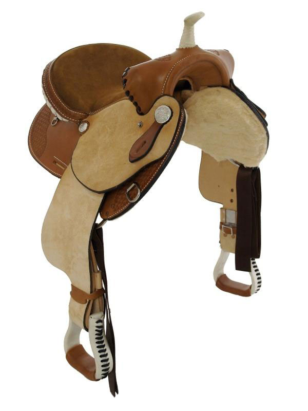 Front View, Dakota Child's Trail Saddle 910s