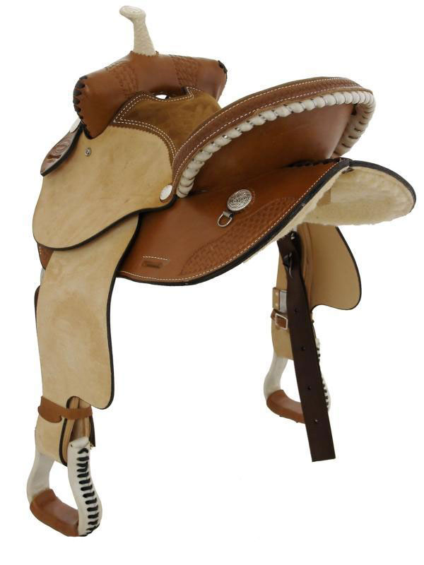 Back View, Dakota Child's Trail Saddle 910s