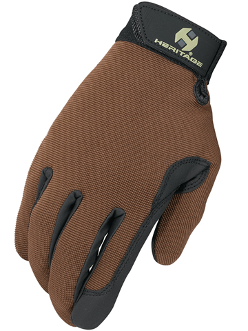 Brown Heritage Performance Gloves
