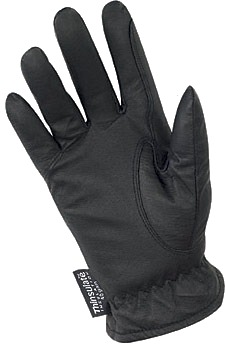 Black Cold Weather Gloves Inside