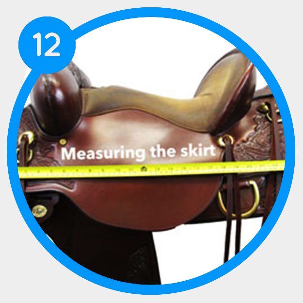 How to measure the skirt length of your saddle