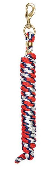 White/Navy/Red Poly Lead Ropes