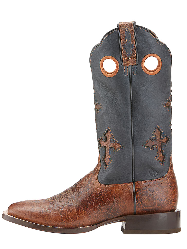 Men S Ariat Ranchero Adobe Clay Black Cowboy Boots 10015285
