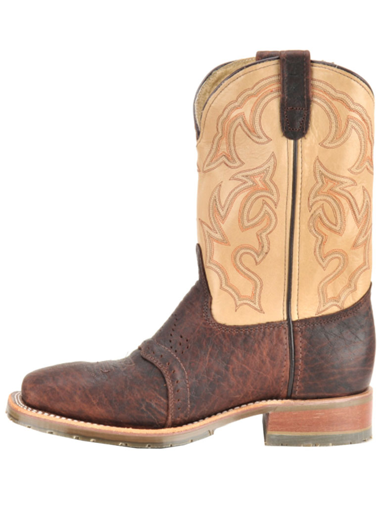 Men S Double H Ice Briar Bison Steel Toe Roper Boots Dh5305