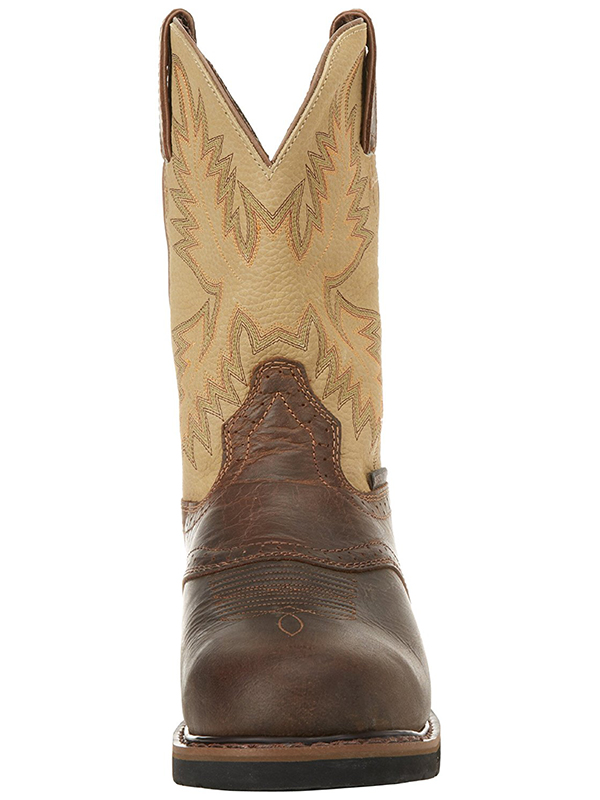Men S Justin Waxy Brown Stampede Work Boots 4660