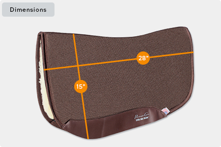 Charmayne James SMx Air Ride Barrel Saddle Pad Dimensions
