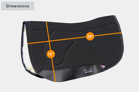 Charmayne James SMx Air Ride Orthosport Saddle Pad Dimensions