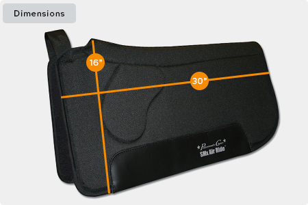 SMx Air Ride Orthosport Saddle Pad Dimensions