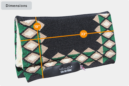 Quest Comfort-Fit SMx H.D. Air Ride Wool Pad Dimensions
