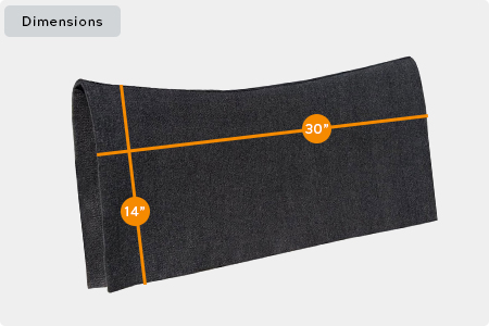 Contoured Saddle Pad Liner Dimensions