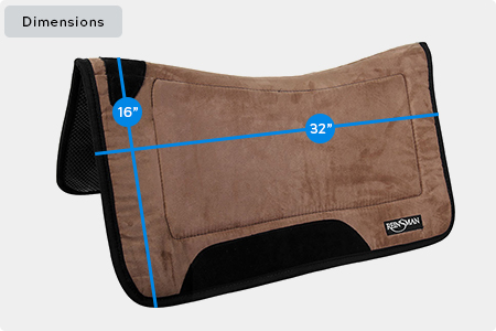 Tacky Too Contour Solid Saddle Pad Dimensions