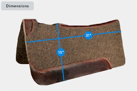 Wool Contour Saddle Pad Dimensions
