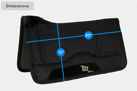Contour Swayback Tacky Too Saddle Pad Dimensions