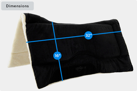 Contour Swayback Saddle Pad Dimensions