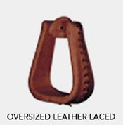 Tucker Oversized Leather Laced Stirrups