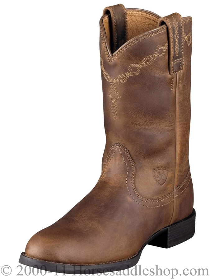 Women S Ariat Heritage Distressed Brown Roper Boots 10000797