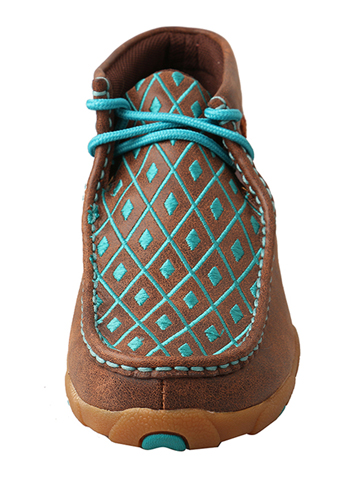Brown/Turquoise Driving Moccasins