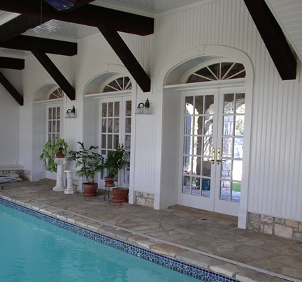 Beadboard in Pool Room