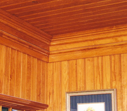Beadboard on Walls and Ceiling