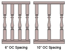 Baluster Spacing (On Center)