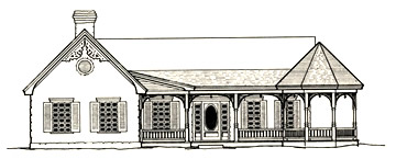 Porch with Attached Gazebo Section