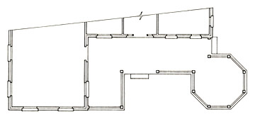 Floorplan of a Porch with Attached Gazebo Section