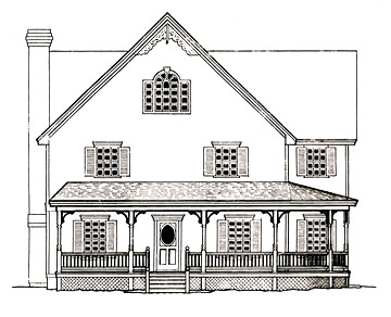 Porch with a Curved Section