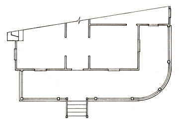 Floorplan of a Porch with a Curved Section