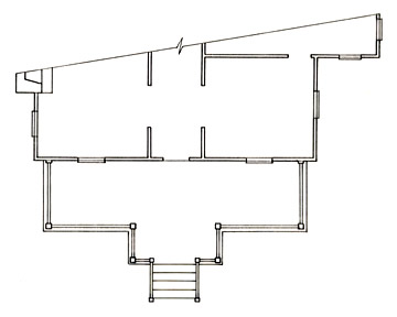 Floorplan of a Porch with Entrance Extension