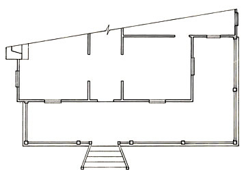 Floorplan of a Hipped-roof Porch