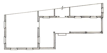 Floorplan of an L Shaped Porch