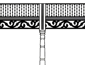 Two Spandrels separated by Beaded Rail