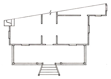 Floorplan of a Basic Retangular Porch