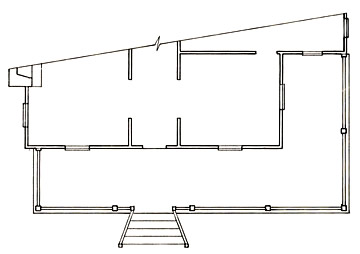 Floorplan of a Wrap-Around Porch