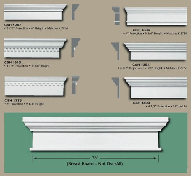 Poly door window caps buy online huge selection for Exterior keystone molding