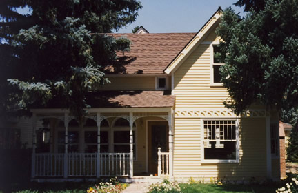 Example of 1-1/2 story with front gable (Porch Photo 119)