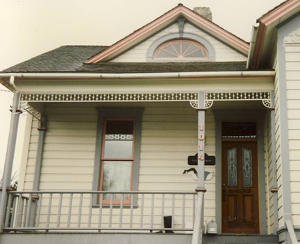 Example of 1-1/2 story with front gable (Porch Photo 130)