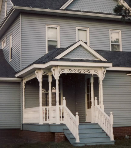 Example of 2-story with front gable (Porch Photo 132)