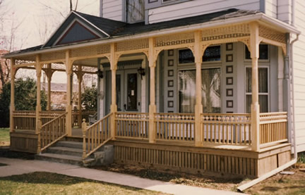 Porch Photos - Beaded Rail - Vintage Woodworks